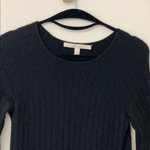 Nordstrom Collection 100% Cashmere Black Sweater